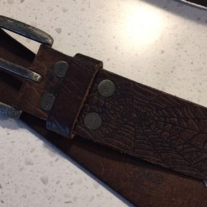 Marvel Accessories - Marvel Spider-Man leather web belt size 32 brown